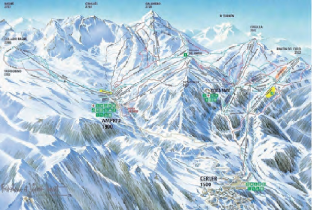 Cerler skiresort i Spania