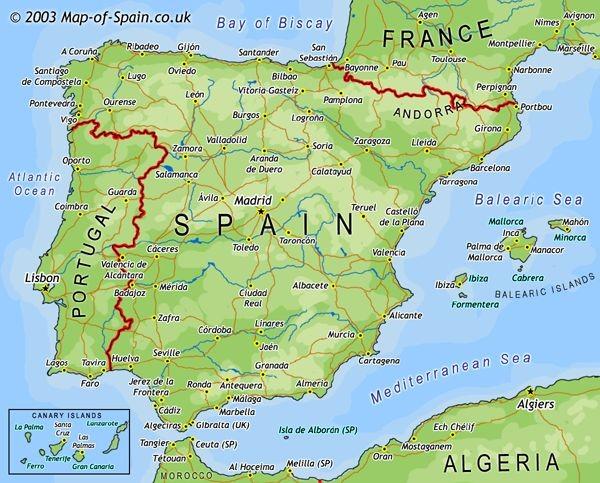 kart over nord spania Spania Fakta | Spania24.no kart over nord spania
