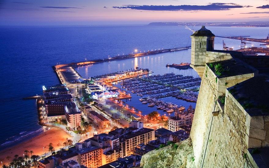 Santa Barbara Slottet i Alicante