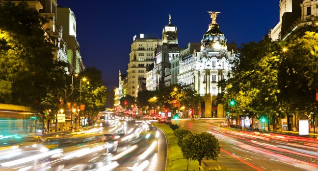 Værmelding for Madrid