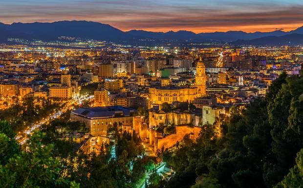 Værmelding for Malaga