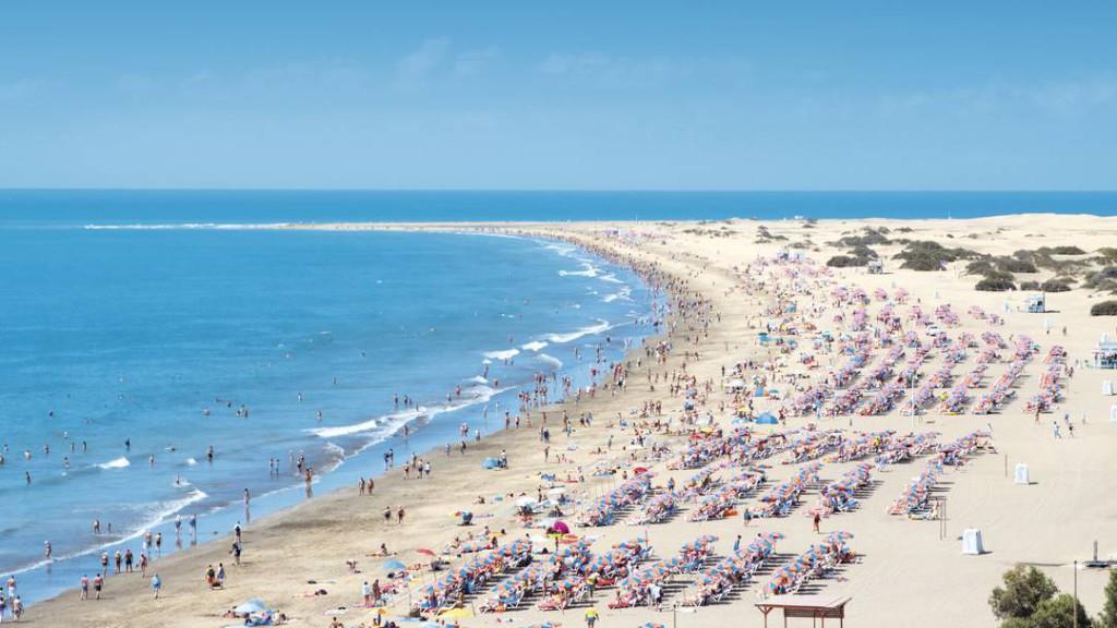 Playa del ingles strand Gran Canaria