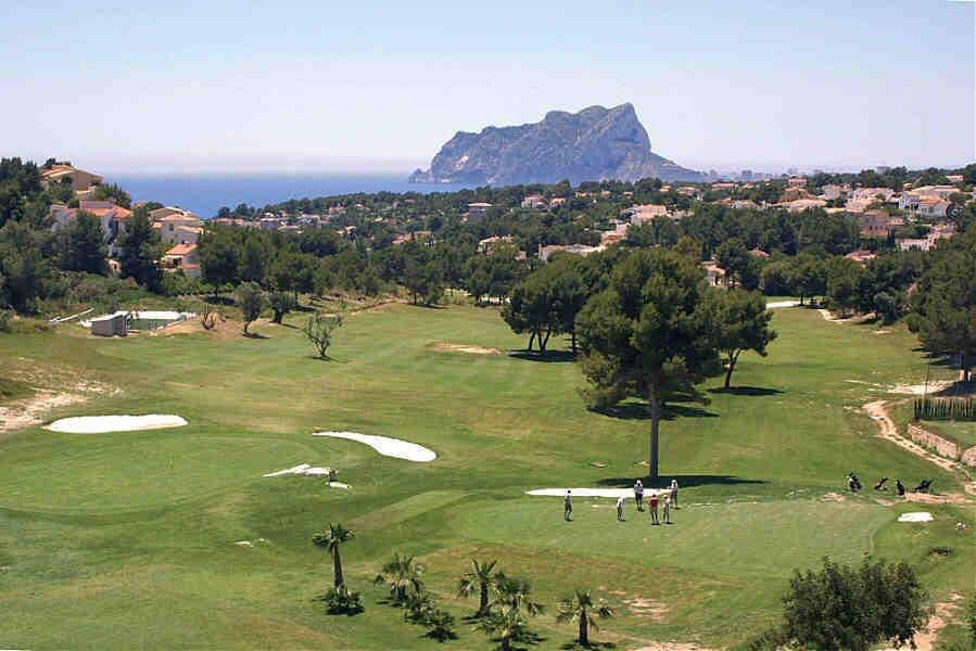 Ifach golfbane Moraira