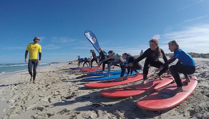 Surfing i Spania.